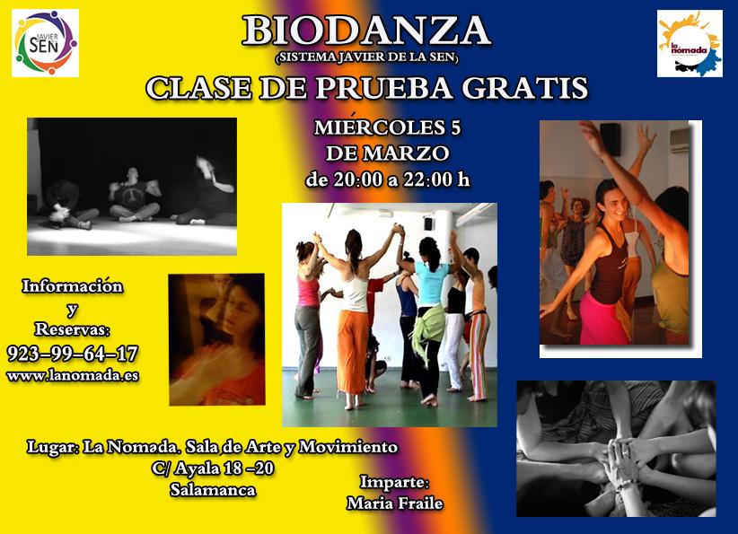 Clase de prueba de Biodanza!!