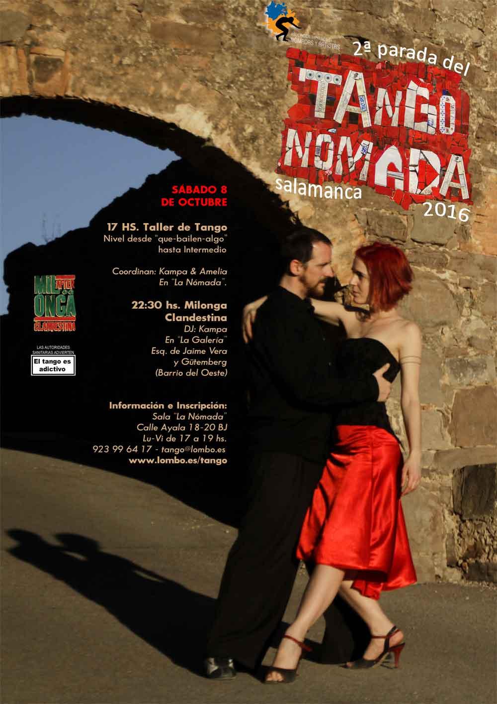 Kampa y Amelia en la 2º parada de Tango Nómada