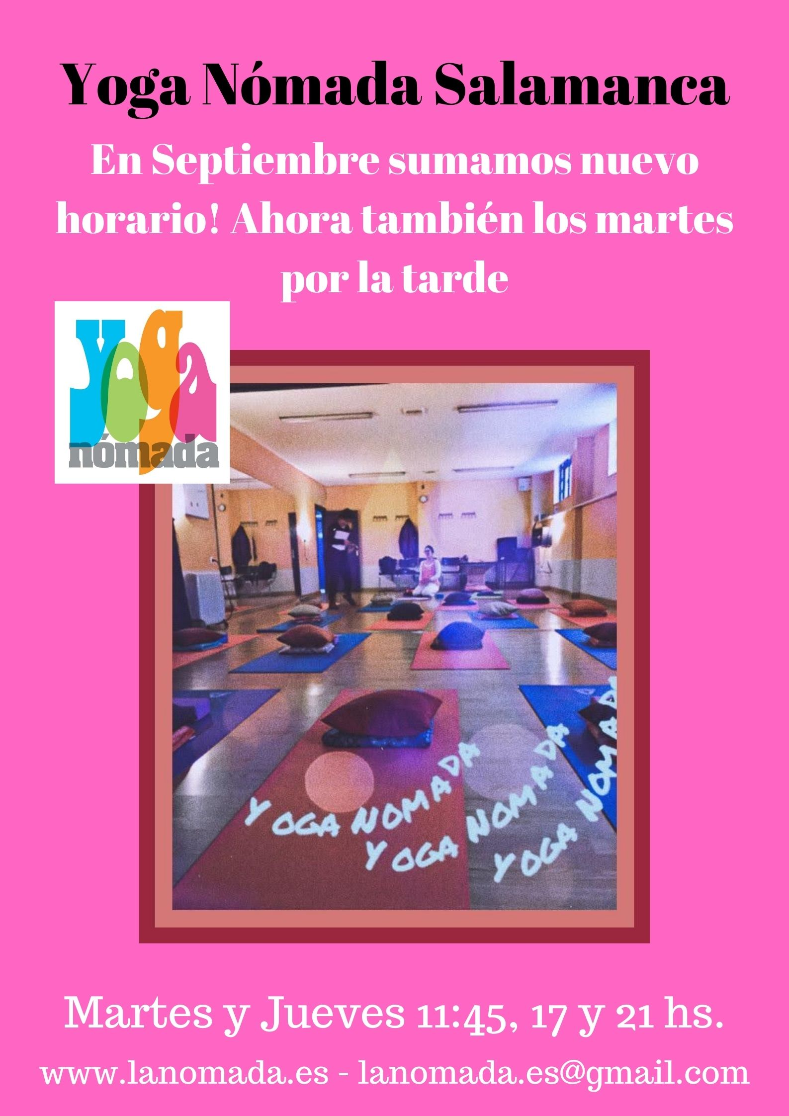Yoga Nómada retoma sus clases en Septiembre