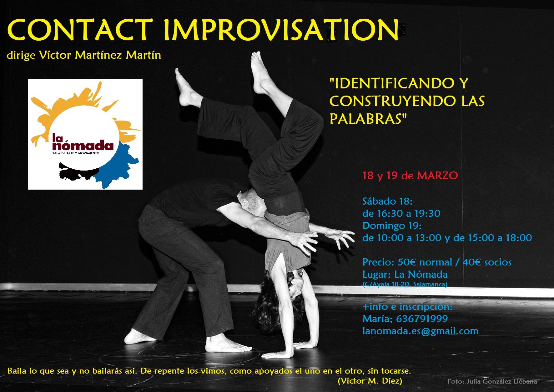 Contact Improvisation: Identificando y construyendo las palabras