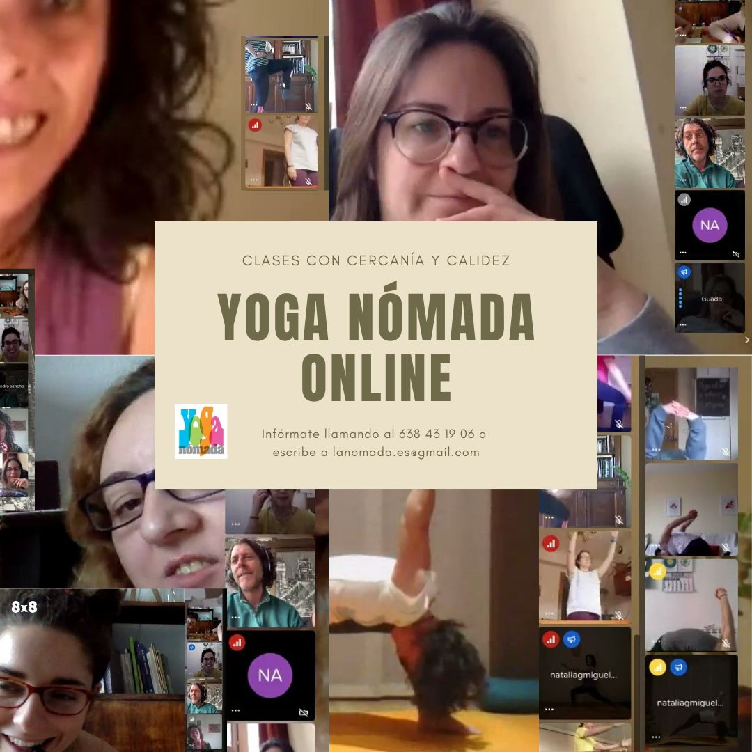 Yoga Nómada continúa sus Clases Online